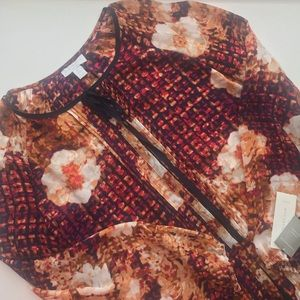 NWT Charter Club Fall Floral Top